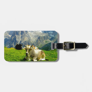 enjoy peace and joy cow pasture horns cows brown tag for bags