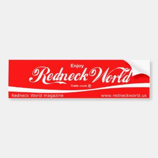 Enjoy Redneck World Car Bumper Sticker
