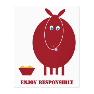 Enjoy Responsibly Canvas Print