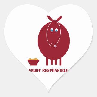 Enjoy Responsibly Heart Sticker