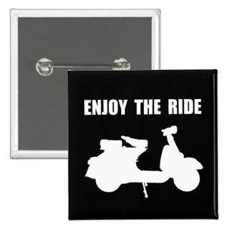 Enjoy Ride Moped 2 Inch Square Button