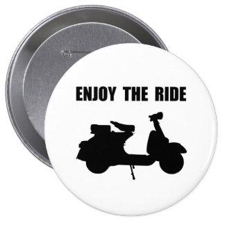 Enjoy Ride Moped 4 Inch Round Button