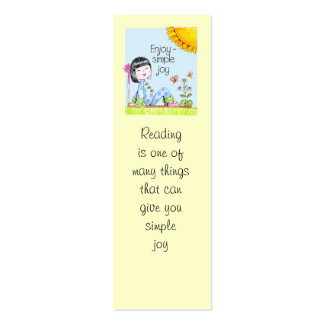 Enjoy Simple Joy bookmark Mini Business Card
