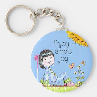 Enjoy - Simple Joy keychain blue background