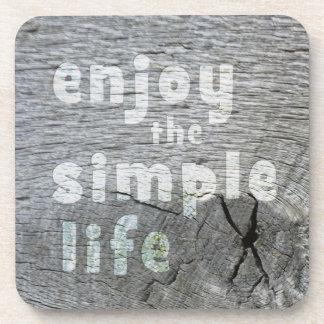 Enjoy Simple Life Cork Coaster
