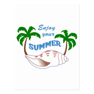 Enjoy Summer Applique Postcard