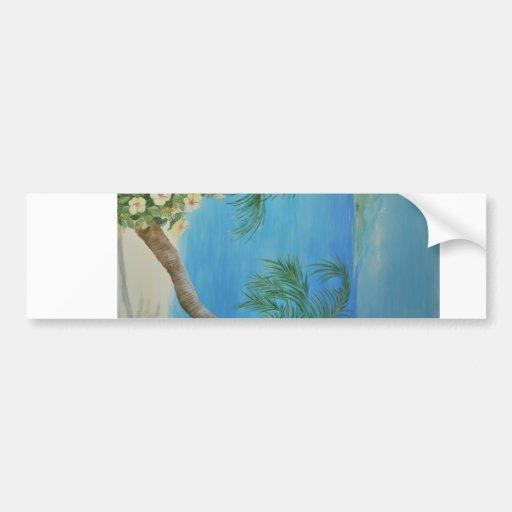 Enjoy the Beach Car Bumper Sticker