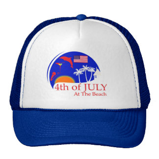 Enjoy the beach in your new 4th of July cap Trucker Hat