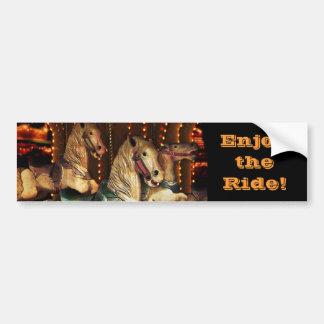 Enjoy the Carousel Ride Bumper Sticker