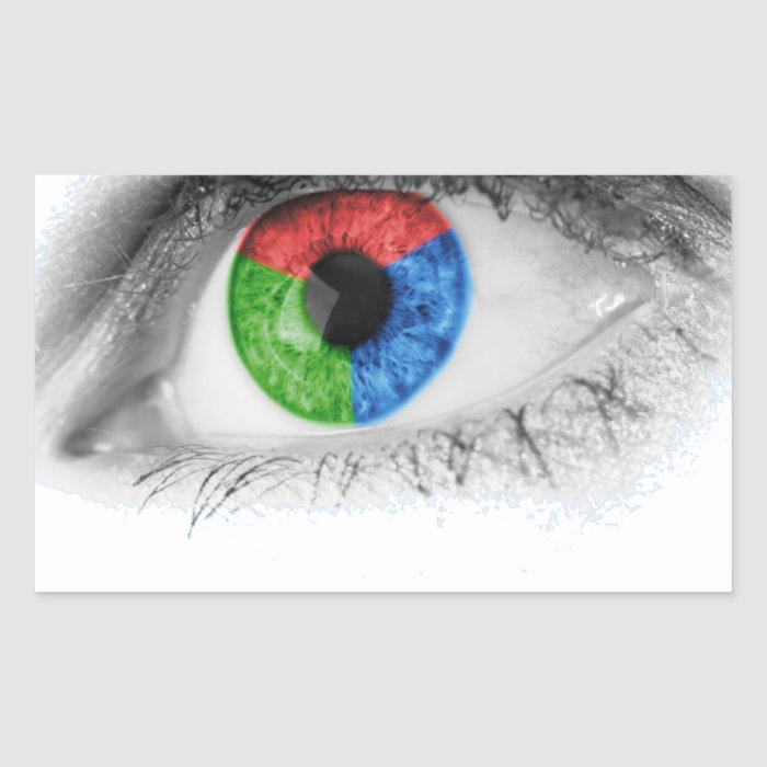 Enjoy the colorful world rectangular sticker