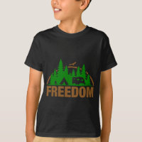 Enjoy The Freedom Of Camping T-Shirt