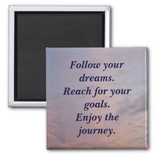 Enjoy the Journey 2 Inch Square Magnet