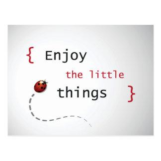Enjoy The Little Things 2 Postcard