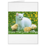 Enjoy The Little Things Cute Animals Greeting Card