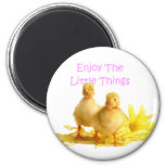 Enjoy The Little Things, Ducklings 2 Inch Round Magnet