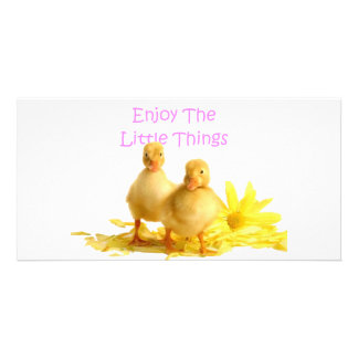 Enjoy The Little Things, Ducklings Photo Cards