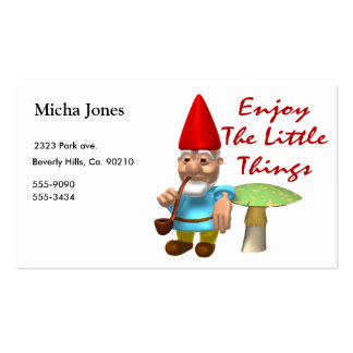Enjoy The Little Things Gnome Business Card Template
