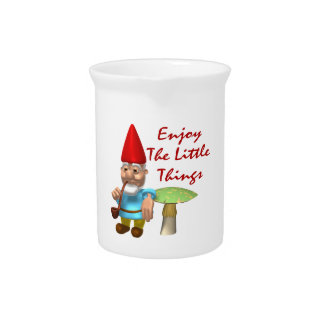 Enjoy The Little Things Gnome Drink Pitcher