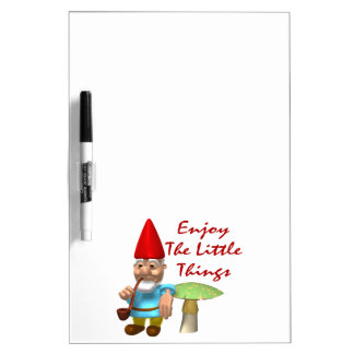Enjoy The Little Things Gnome Dry Erase White Board