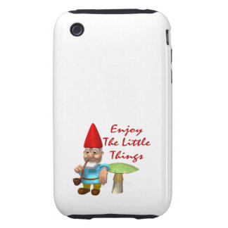 Enjoy The Little Things Gnome iPhone 3 Tough Case