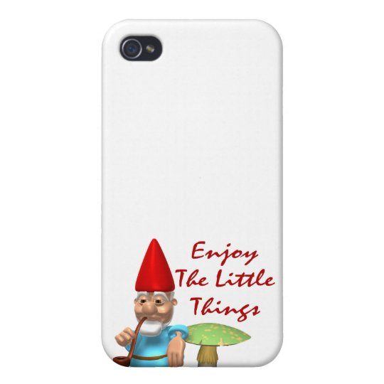 Enjoy The Little Things Gnome iPhone 4/4S Cases