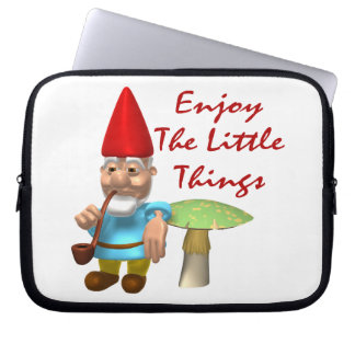 Enjoy The Little Things Gnome Laptop Sleeve