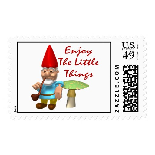 Enjoy The Little Things Gnome Postage