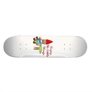 Enjoy The Little Things Gnome Skateboard
