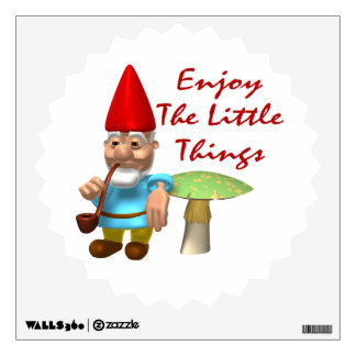 Enjoy The Little Things Gnome Wall Decals