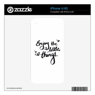 Enjoy The Little Things - Handwriting Print Skins For The iPhone 4S