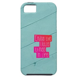 Enjoy the little things in life typography iPhone 5 cases