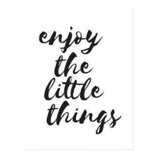 Enjoy the little things - Inspirational Postcard