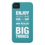 Enjoy the little things! Inspirational Typography Case-Mate iPhone 4 Case