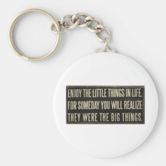 Enjoy the little things keychain