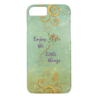 Enjoy the Little Things Quote iPhone 8/7 Case