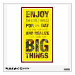 Enjoy the little things. quote saying wall sticker