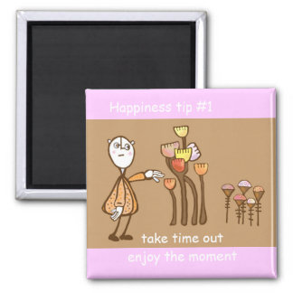enjoy the moment 2 inch square magnet