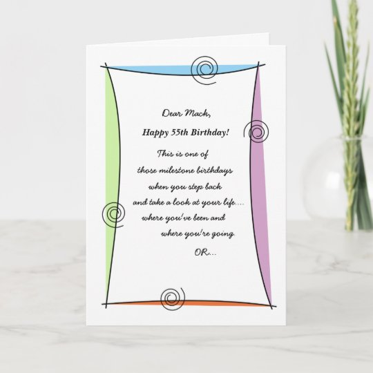 Enjoy The Moment 55th Birthday Card