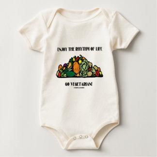 Enjoy The Rhythm Of Life Go Vegetarian! Baby Bodysuit