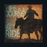 "Enjoy the Ride Canvas Print<br><div class=""desc"">&quot;Life is a Journey,  Enjoy the Ride&quot;,  original art for contemporary,  rustic,  western interiors.</div>"
