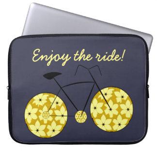 Enjoy the ride! laptop sleeve