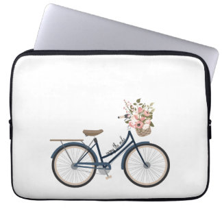 Enjoy the ride - laptop sleeve for bike lover