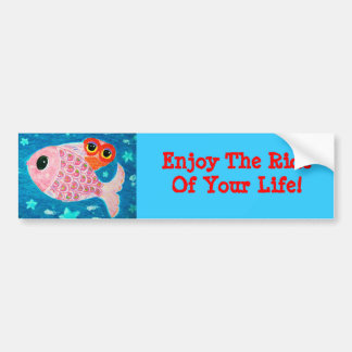 Enjoy The Ride Of Your Life Owl Bumper Sticker