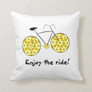 Enjoy the ride! throw pillow