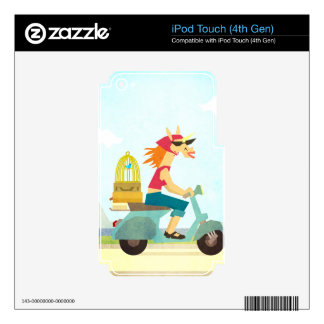 Enjoy the Ride Unicorn iPod Touch 4G Skins