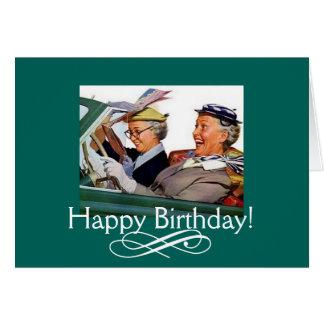 Enjoy the Ride! Vintage Birthday Card