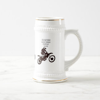 Enjoy The Ride When You're On It 18 Oz Beer Stein