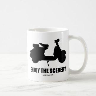 Enjoy The Scenery (Motor Scooter Silhouette) Coffee Mug