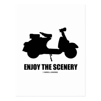 Enjoy The Scenery (Motor Scooter Silhouette) Post Cards