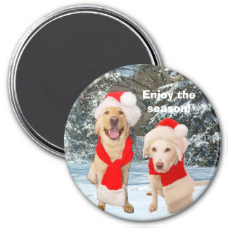 Enjoy the season! 3 inch round magnet